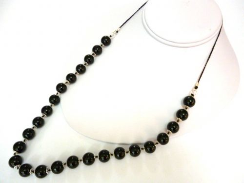 Black Agate 26 inch Necklace